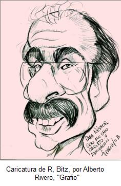 """Caricatura de Rubén Bitz por Alberto Rivero """"Grafio"""""""